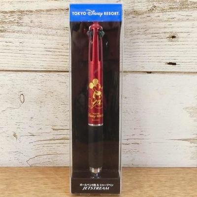 【赤】 東京ディズニーリゾート ディズニー 通販 ミッキーマウス ジェットストリーム ボールペン 多機能ペン 黒 赤 青 緑 4色+シャープペン 無料ギフトラッピング 三菱鉛筆 おみやげ お土産