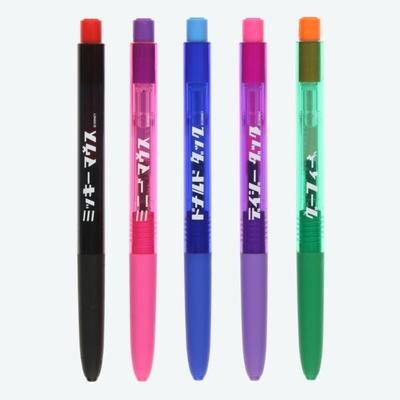 東京ディズニーリゾート ディズニー 通販 Signo シグノ カタカナ ゲルインキ 水性 ボールペン 5本セット 0.38mm 日本製 無料ギフトラッピング ミッキー ミニー ドナルド デイジー