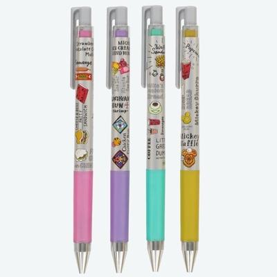 東京ディズニーリゾート ディズニー 通販 ミッキー パークフード シリーズ ゲルインキ 水性 ボールペン 4本セット インク メタリック 0.4mm 日本製 無料ギフトラッピング TDR おみやげ