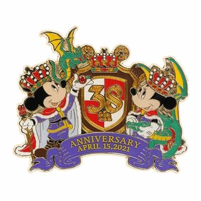 東京ディズニーランド ディズニー 通販 キングダムトレジャー ピンバッジ 38周年 無料ギフトラッピング ミッキー ミニー TDL ディズニーリゾート おみやげ お土産 ピン ピンズ ピンバッチ