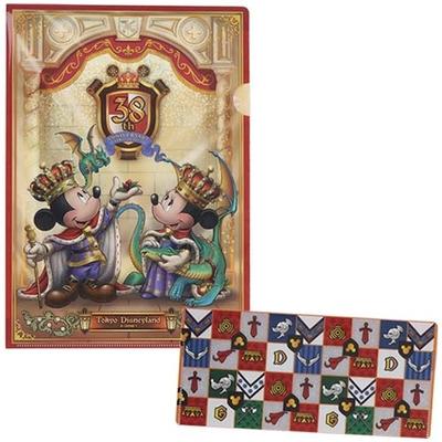東京ディズニーランド ディズニー 通販 クリアホルダー チケットケース セット 38周年 無料ギフトラッピング ミッキー ミニー TDL ディズニーリゾート おみやげ お土産 A4 アニバーサリー