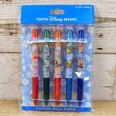 東京ディズニーリゾート ディズニー トイストーリー フリクション ボールペン5本セット インク:5色 0.5mm 無料ギフトラッピング TDR ディズニーランド ディズニーシー おみやげ お土産