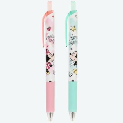 東京ディズニーリゾート ディズニー 通販 ミッキーマウス ミニーマウス メッセージ入りボールペン 2本セット インク:黒 0.5mm 日本製 無料ギフトラッピング TDR おみやげ お土産