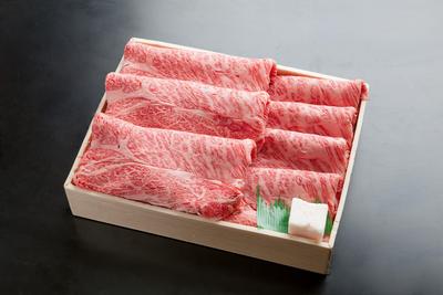 【箱入】黒毛和牛A-5等級(産地厳選)ロースすき焼・しゃぶしゃぶ用(500g/2~3人前)