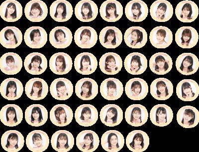 ★オンラインショップ限定商品★【NMB48】アクリルスタンドシール【全46種】 ※事前購入