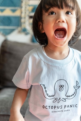 【PARK SiDE Studio】 kids Tシャツ T-K002オクトパスパニック(ブルー)