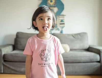 【PARK SiDE Studio】 kids Tシャツ T-K001スカイウォーカー(ピンク)