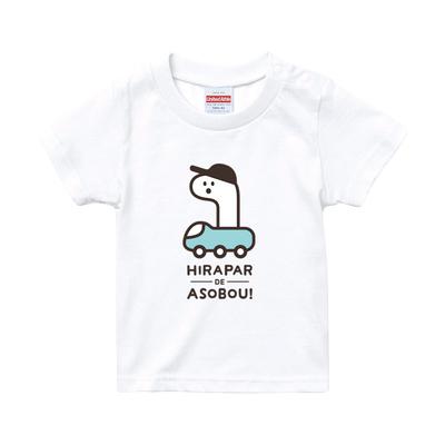 【PARK SiDE Studio】 kids Tシャツ T-K004のりもの(ホワイト)