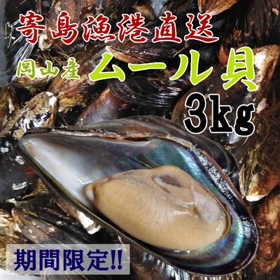 ムール貝(イガイ)岡山産 3㎏ 『加熱用』