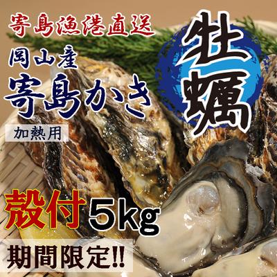 岡山県寄島産殻付かき【Lサイズ・1セット】5kg カキメス・レシピ付