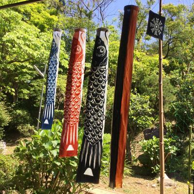 【再販】草木型染鯉のぼり・プレミアム5点セット+桐箱・風呂敷付き