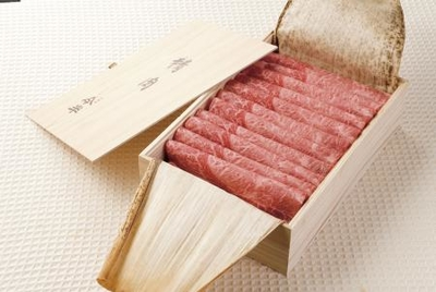 【人形町今半】国内産黒毛和牛(肩肉・モモ肉)すき焼用うす切り詰合せ