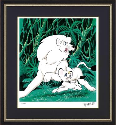 手塚治虫版オリジナル版画「パンジャとレオ」