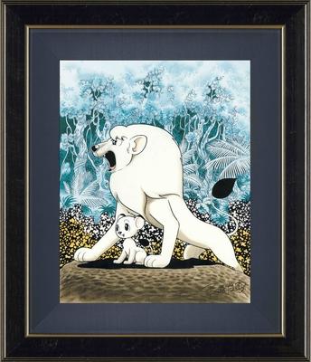 手塚治虫版オリジナル版画「パンジャの子」