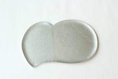 白いハート皿