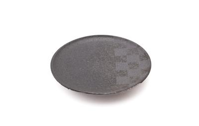 【芝雪】3寸皿 (市松)