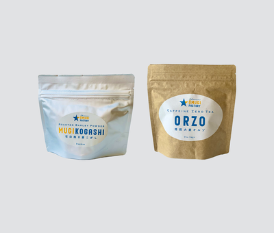 焙煎大麦オルゾ(1個) 石臼挽き麦こがし(1個)