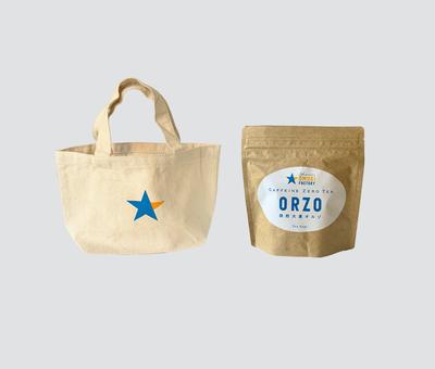 オリジナル トートバック(1個) 焙煎大麦オルゾ(1個)