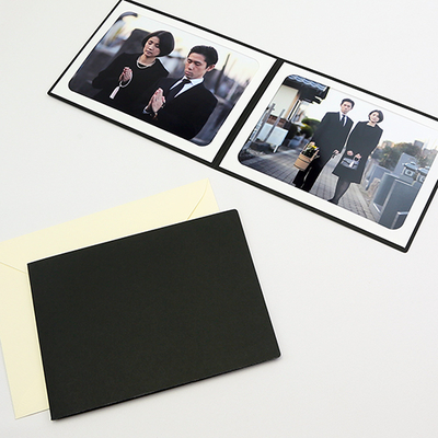 ポケット台紙 法事台紙(無地) Lサイズ(89×127mm) 2面ヨコ