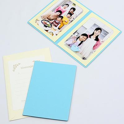 無地表紙 ポケット台紙 Lサイズ 2面タテ (封筒付き・メッセージカード:ツタ)  写真台紙 ペーパーフォトフレーム
