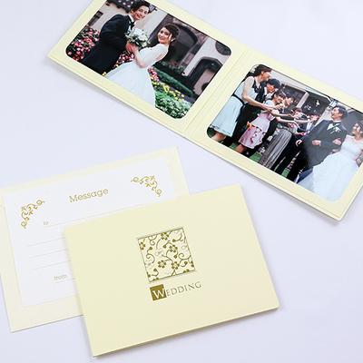 ポケット台紙 『WEDDING/桜』 2Lサイズ 2面ヨコ  写真台紙 ウエディング 結婚式