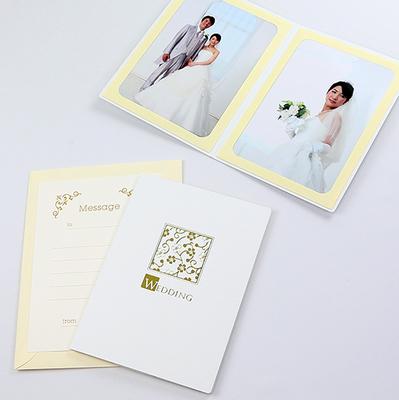 ポケット台紙 『WEDDING/桜』 2Lサイズ 2面タテ  写真台紙 ウエディング 結婚式