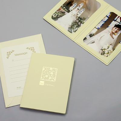 ポケット台紙 『WEDDING/桜』 Lサイズ 2面タテ  写真台紙 ウエディング 結婚式
