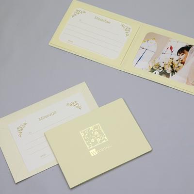 ポケット台紙 『WEDDING/桜』 Lサイズ 2面ヨコ  写真台紙 ウエディング 結婚式