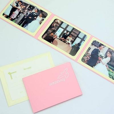 ポケット台紙 『WEDDING/ピジョン』 2Lサイズ 3面ヨコ 写真台紙 ウエディング