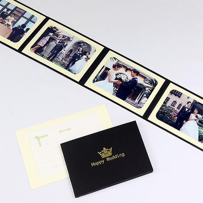 ポケット台紙 『Happy Wedding/クラウン』 Lサイズ 4面ヨコ 写真台紙 結婚式 ウエディング 記念写真