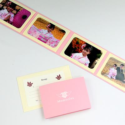 ポケット台紙 『Memories/エンゼルハート』 Lサイズ 4面ヨコ 写真台紙 ペーパーフォトフレーム 思い出 記念日