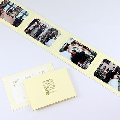 ポケット台紙 『WEDDING/桜』 2Lサイズ 4面ヨコ 写真台紙 結婚式 ウエディング 記念写真