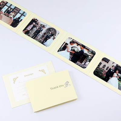 ポケット台紙 『Thank you/ツタ』 Lサイズ 4面ヨコ  写真台紙 / ペーパーフォトフレーム 写真プレゼント