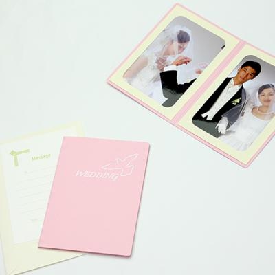ポケット台紙 『WEDDING/ピジョン』 2Lサイズ 2面タテ  写真台紙 ウエディング