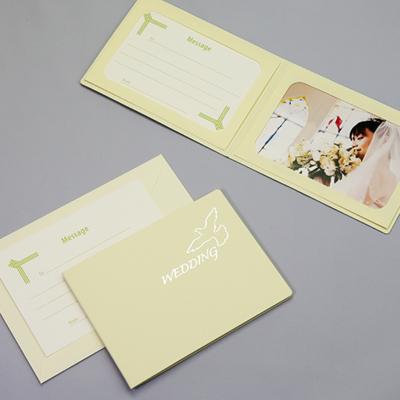 ポケット台紙 『WEDDING/ピジョン』 2Lサイズ 2面ヨコ  写真台紙 ウエディング