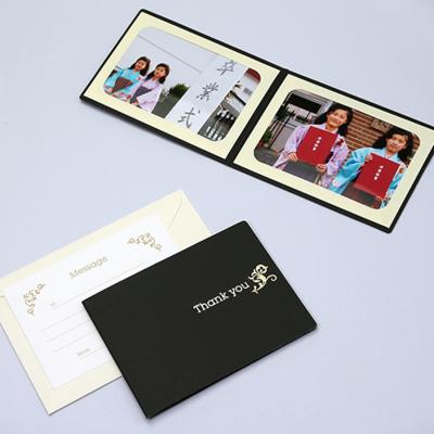 ポケット台紙 『Thank you/ツタ』 2Lサイズ 2面ヨコ  写真台紙 / ペーパーフォトフレーム 写真プレゼント