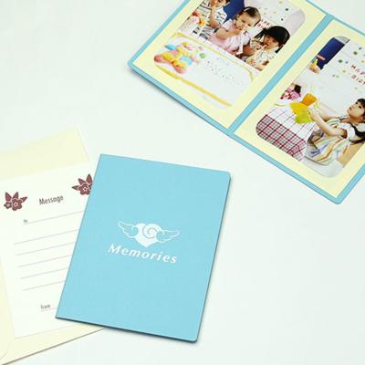 ポケット台紙 『Memories/エンゼルハート』 2Lサイズ 2面タテ 写真台紙 ペーパーフォトフレーム 思い出 記念日