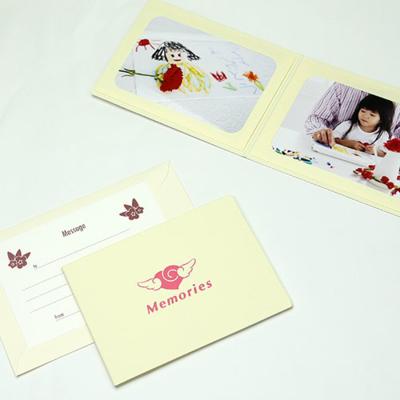 ポケット台紙 『Memories/エンゼルハート』 2Lサイズ 2面ヨコ 写真台紙 ペーパーフォトフレーム 思い出 記念日