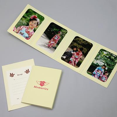 ポケット台紙 『Memories/エンゼルハート』 Lサイズ 4面タテ 写真台紙 ペーパーフォトフレーム 思い出 記念日