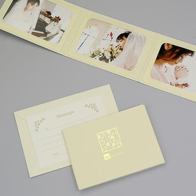 ポケット台紙 『WEDDING/桜』 Lサイズ 3面ヨコ 写真台紙 結婚式 ウエディング 記念写真