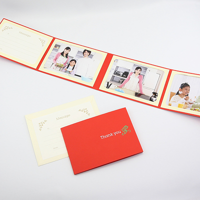 ポケット台紙 『Thank you/ツタ』 2Lサイズ 4面ヨコ  写真台紙 / ペーパーフォトフレーム 写真プレゼント