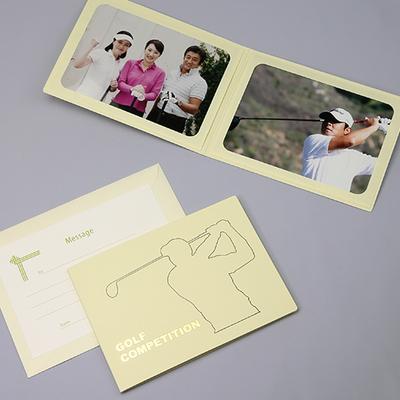 ポケット台紙 『GOLF COMPE/ ゴルファー』 2Lサイズ 2面ヨコ  ゴルフコンペ 写真台紙 ペーパーフォトフレーム