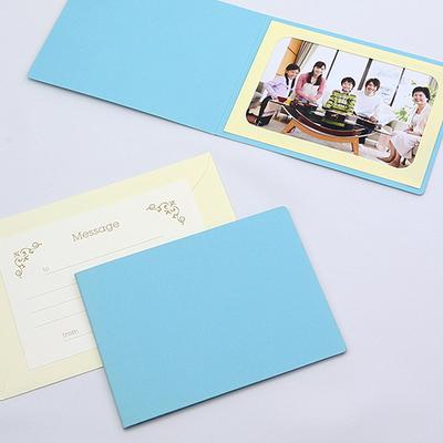 無地表紙 ポケット台紙 Lサイズ 1面ヨコ (封筒付き・メッセージカード:ツタ)  写真台紙 ペーパーフォトフレーム