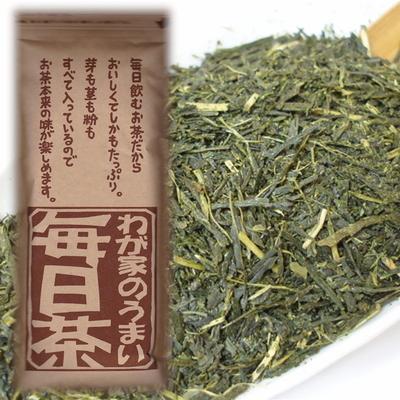 【お得用】お茶の川村園オリジナル静岡茶「毎日茶(無選別荒茶仕上げ)」260g(単品)