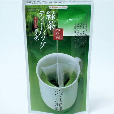 【特上】緑茶ティーバッグ「夢味」 4g×18個入り 静岡茶 一番茶使用(単品)