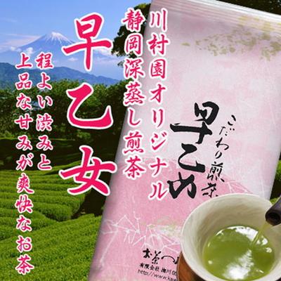 【特上】静岡茶 深蒸し煎茶「早乙女」100g(単品)2021年産一番茶【ネコポスOK】