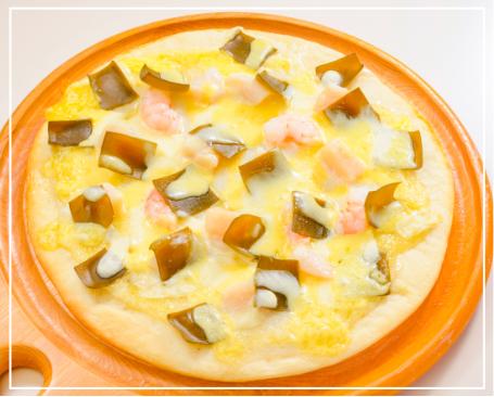 昆布のワサビソースピザ