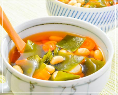 昆布とお豆のコロコロスープ