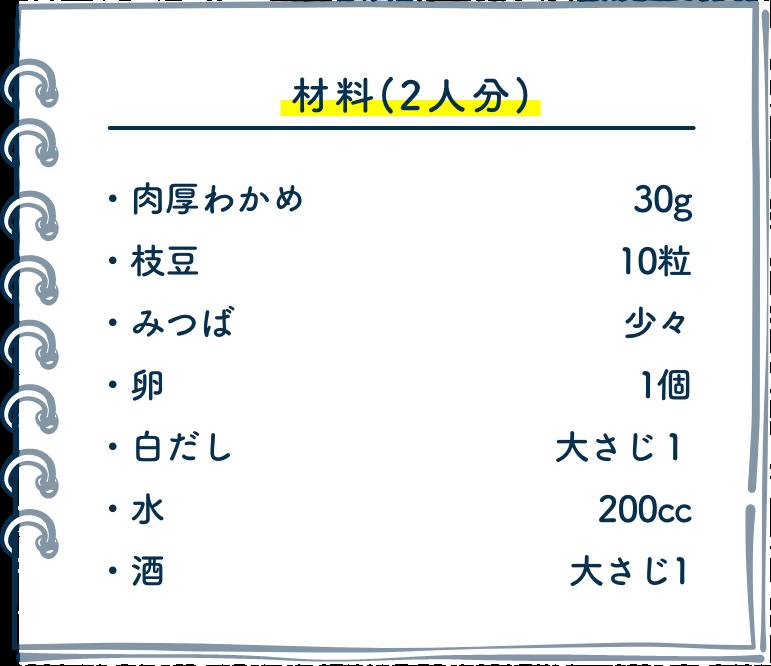 材料(2人分)