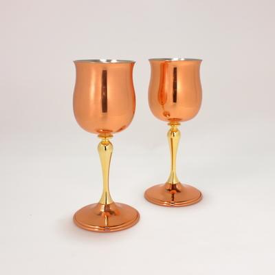 銅ワインカップ チューリップ2個組